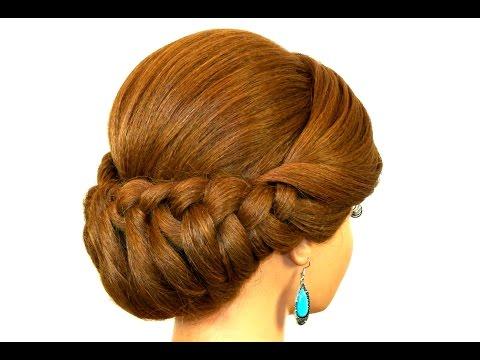 Braided Updo Hairstyle for Medium Long Hair Tutorial - UCBDR4TSiuXpWFNSA4cxPp6g