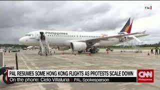 PAL resumes Hong Kong flights as protest scale down