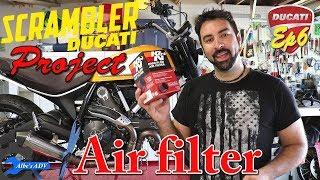 Cambio filtro aria Ducati Scrambler Desert Sled