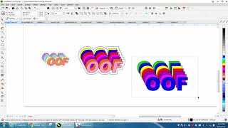 Corel Draw Tips & Tricks Off set letter in colors