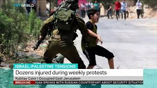 Two Palestinians temporarily detained during weekly protests