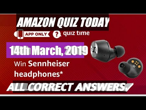Today's Amazon Quiz Answers To Win Sennheiser Headphones, 14th March 2019
