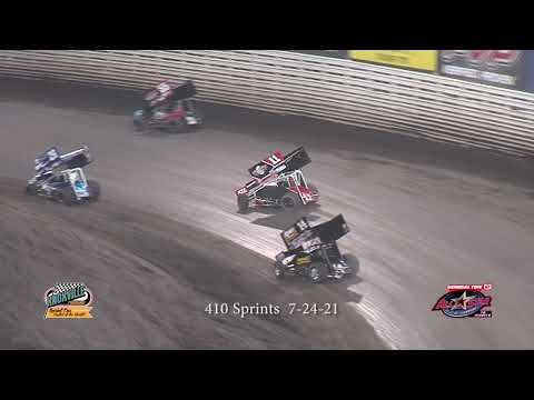 Knoxville Raceway 410 Highlights - July 31, 2021 - dirt track racing video image