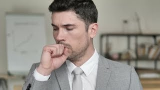 Cough, Coughing Sick Businessman | Stock Footage - Videohive