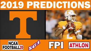 Tennessee Volunteers 2019 Football Predictions - Comparing Sources