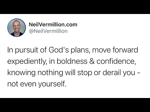 Move Forward Expediently - Daily Prophetic Word