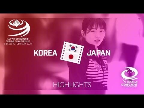 HIGHLIGHTS: Korea v Japan - round robin - LGT World Women's Curling Championship 2019