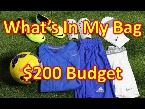 What's In My Soccer Bag - $200 Budget Edition - UCUU3lMXc6iDrQw4eZen8COQ
