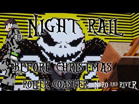 the night rail before christmas a nightmare before christmas minecraft roller coaster - Christmas Minecraft Videos