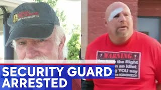Security guard accused of beating man at apartment