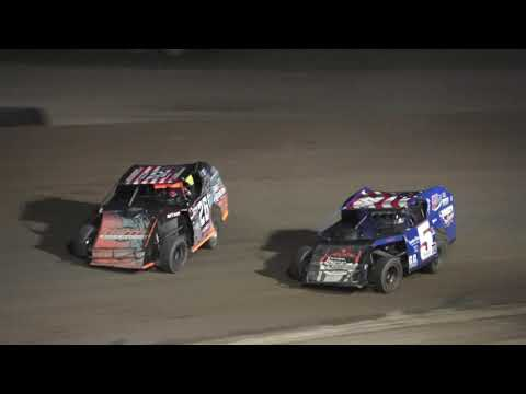 I.M.C.A A-Feature at Crystal Motor Speedway, Michigan on 08-07-2021!! - dirt track racing video image