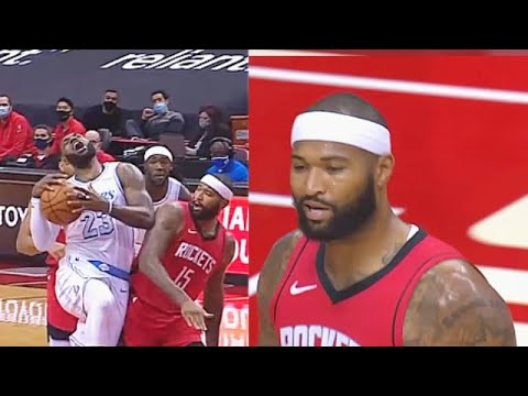 LeBron James Gets Hit By DeMarcus Cousins Who Then Gets Ejected! Lakers vs Rockets