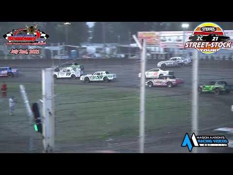 River Cities Speedway Steffes WISSOTA Street Stock Tour A-Main (7/2/21) - dirt track racing video image