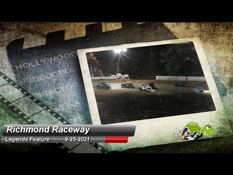 Richmond Raceway - Legends Car Feature - 9/25/2021 - dirt track racing video image