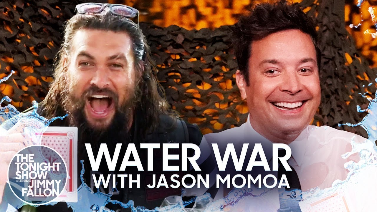 Water War Rematch with Jason Momoa | The Tonight Show Starring Jimmy Fallon
