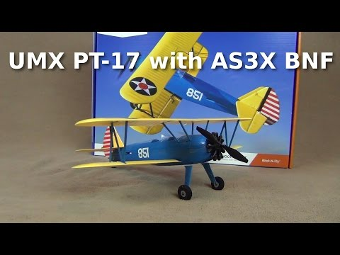 UMX PT-17 with AS3X BNF - Review and Flight Testing - UCqFj04rRJs6TJIwsVvCQK6A