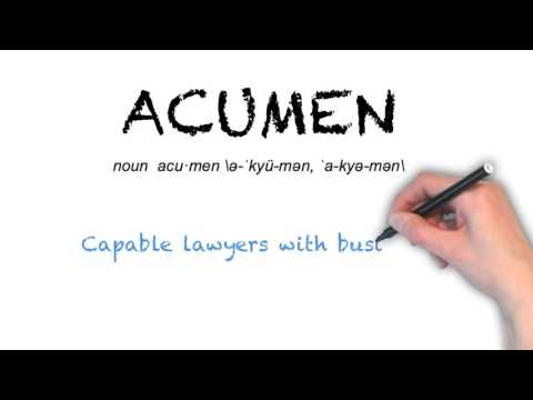 How to Pronounce 'ACUMEN'- English Grammar