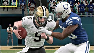 Madden 20 Gameplay - New Orleans Saints vs Indianapolis Colts Super Bowl XLIV Rematch  Madden NFL 20