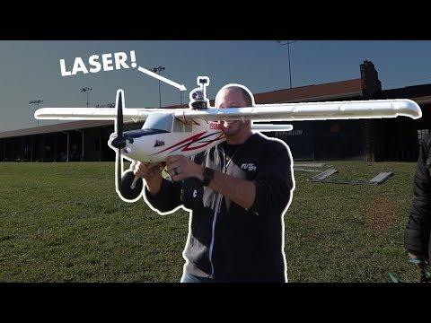 RC LASER TAG ON AIRPLANE TEST   VLOG0128 - UC9zTuyWffK9ckEz1216noAw