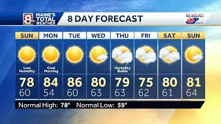Bring on the dry air, a more comfortable Sunday in store