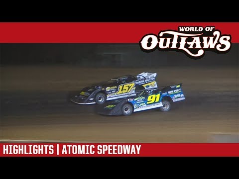 World of Outlaws Craftsman Late Model Series Feature Event Highlights from the Atomic Speedway in Waverly, Ohio on September 29, 2018.  For more information and full results: www.woolms.com For extended race highlights: www.DirtonDirt.com - dirt track racing video image