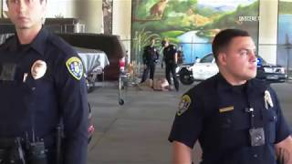 San Diego: MTS Guard Attacked & Stabs Suspect 08162019