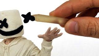 Como hacer a MARSHMELLO con MALVAVISCOS y Plastilina | Sculpting MARSHMELLO Clay tutorial