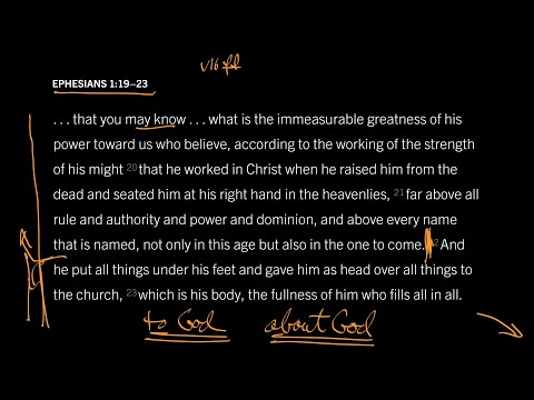 Ephesians 1:1923 // Part 3 // Whenever We Speak, God Hears