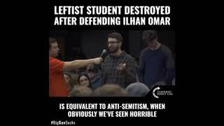 Leftist Student Tries to Defend Ilhan Omar got SHUT immediately   YouTube