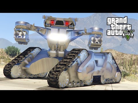 GTA 5 PLAY AS A COP MOD - FUTURISTIC ARMY POLICE FORCE!! SWAT Police