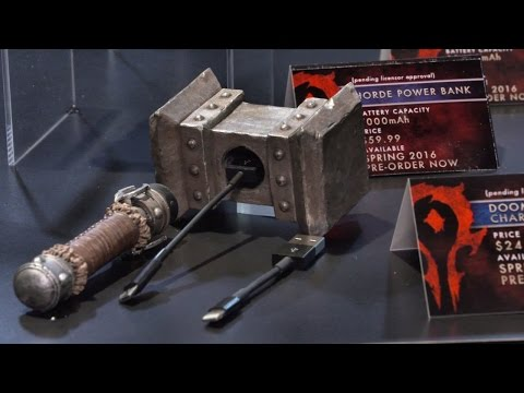 This Warcraft Doomhammer Can Power Your Phone and Your Life - CES 2016 - UCKy1dAqELo0zrOtPkf0eTMw