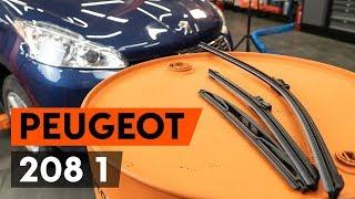 Sostituzione spazzole tergicristalli Peugeot 208