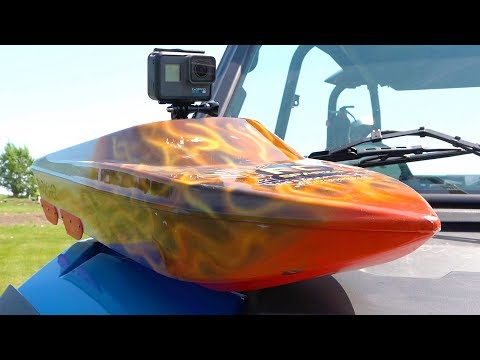 THRASHER WATER CLiMB CHALLENGE w/ GOPRO Hero 6 - Streamline RC Jetboat Action | RC ADVENTURES
