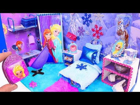 DIY Miniature Doll Bedroom for Disney Frozen Elsa - UCOuQbxT3ChGo6B_cJz9InRg