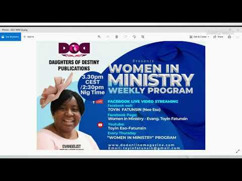 WOMEN IN MINISTRY WEEKLY PROGRAM  02/09/21 - ALABSTER BOX; GIVING SACRIFICIALLY IN MINISTRY