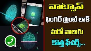 WhatsApp Fingerprint Lock on Latest Update | WhatsApp New Features 2019 |  వాట్సాప్ కొత్త ఫీచర్స్