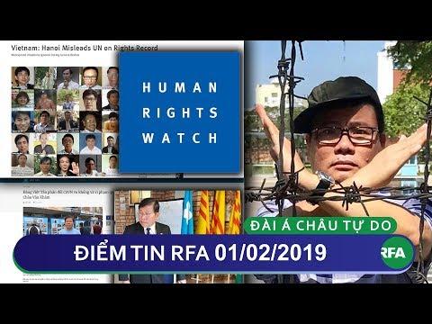 Điểm tin RFA tối 01/02/2019 | Hà Nội gian dối hồ sơ nhân quyền với Liên Hiệp Quốc