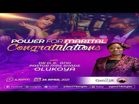 Power For Marital Congratulations with Pastor (Mrs) Shade Olukoya