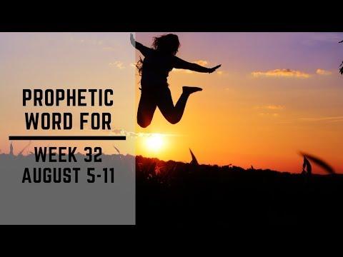 Prophetic Word for Week 5 August 2019