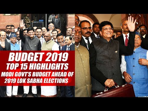 Budget 2019: Top 15 Highlights Of Modi Govt's Budget Ahead Of 2019 Lok Sabha Elections