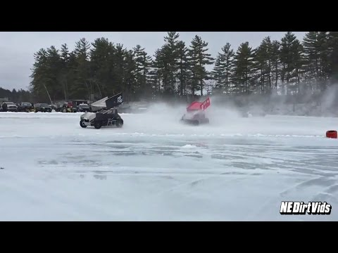 Highlights: Lakes Region Ice Racing Club January 22 2017 - dirt track racing video image