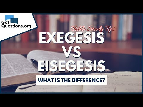 Exegesis and Eisegesis - What is the difference?  Bible Study Tips  GotQuestions.org