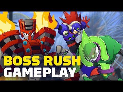 Mega Man 11 - Boss Rush Gameplay - All Bosses Beaten in 5 Minutes 9 Seconds - UCKy1dAqELo0zrOtPkf0eTMw