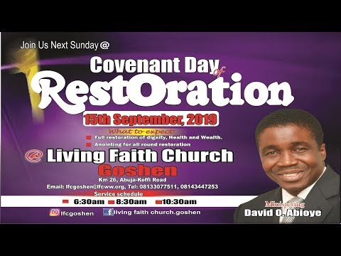 COVENANT DAY OF RESTORATION 1ST SERVICE SEPTEMBER 15, 2019