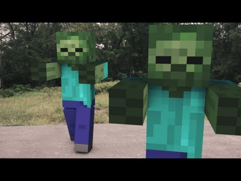 minecraft zombie attack - Christmas Minecraft Videos