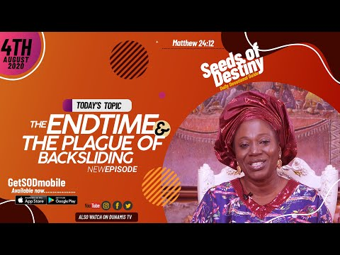 Dr Becky Paul-Enenche - SEEDS OF DESTINY - TUESDAY AUGUST 4, 2020