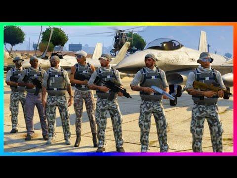 GTA ONLINE MILITARY MAYHEM FREEMODE TAKEOVER - ULTIMATE ZANCUDO BASE WAR, LOS SANTOS ARMY & MORE! - default