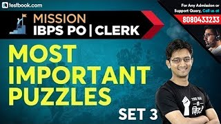 Mission IBPS PO & Clerk | Most Important Reasoning Puzzles for IBPS PO 2019 | Set 3 | Sachin Sir