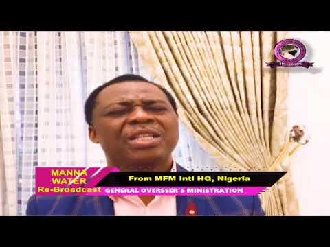 MFM SPECIAL MANNA WATER SERVICE WEDNESDAY MAY 20th 2020