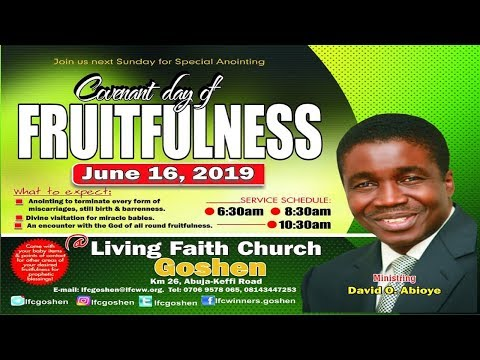 COVENANT DAY OF FRUITFULNESS  2ND SERVICE JUNE 16, 2019
